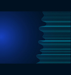 template design technology modern abstract blue vector image