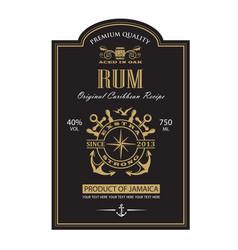 Template rum label vector