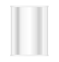 tin can of meal mockup realistic style vector image