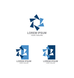 turbine circular power abstract and logo design vector image