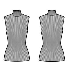 turtleneck rib sweater technical fashion vector image