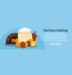 various baking banner horizontal concept vector image