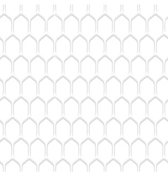 White honeycomb pattern background vector image