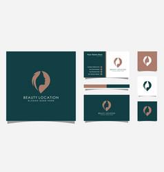 woman place logo inspiration feminine pin logo vector image