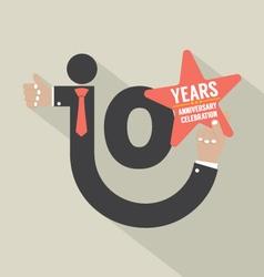 10 Years Anniversary Typography Design Illu vector image vector image