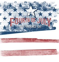 4th of july American Independence day poster vector image vector image