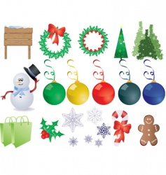 Christmas things vector image vector image