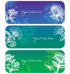flowers banners vector image