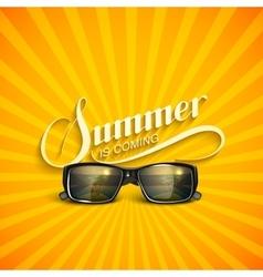 Summer retro label with sunglasses vector