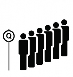 queue vector image vector image
