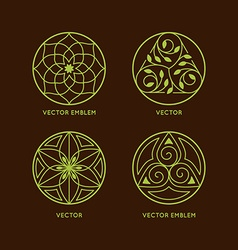 set of logo design templates vector image vector image