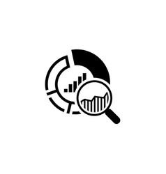small data icon flat design vector image