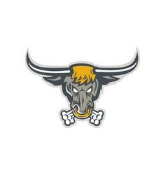 Texas Longhorn Bull Head Front vector image vector image