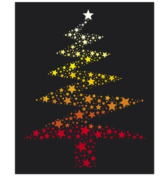 abstract christmas tree with stars vector image vector image