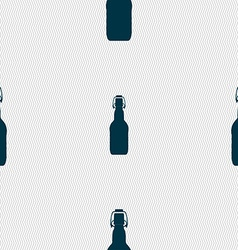 bottle icon sign Seamless pattern with geometric vector image vector image