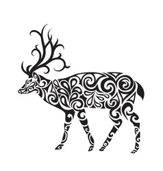 deer in the style of a tattoo vector image vector image