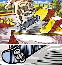 Fingerboarding vector image vector image
