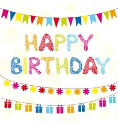 Happy birthday funny greeting card vector