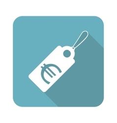Square euro price icon vector image