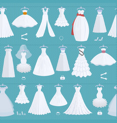 wedding ceremony bride white dress model elegance vector image
