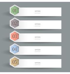 White horizontal Design template vector image