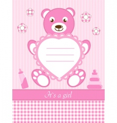 baby girl shower invitation ca vector image