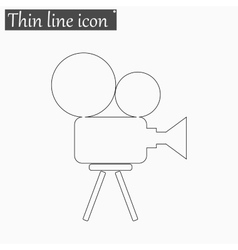 Camera icon Style thin line vector image vector image