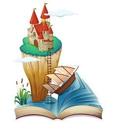 Castle Fantasy Story Book vector image vector image