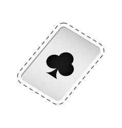 Magic card trick icon vector