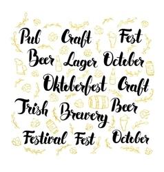 Oktoberfest Lettering Design Set vector image
