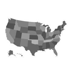 political USA map vector image