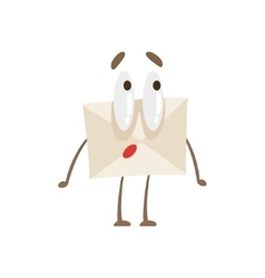 Surprised Humanized Letter Paper Envelop Cartoon vector image