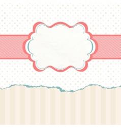 Vintage polka dot card EPS 8 vector image