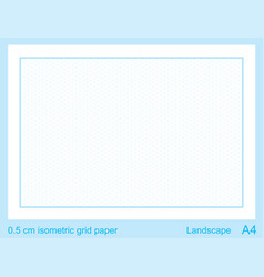 05 cm a4 isometric grid paper isometric grid vector image