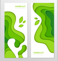 Abstract green banner - set of template vector