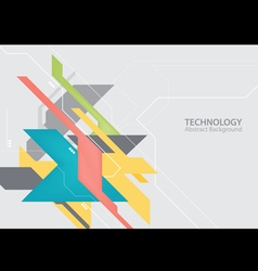 Abstract hi tech digital technology background vector