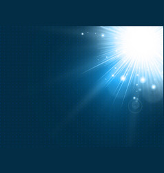 abstract technology with lighting burst on blue vector image