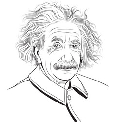 Albert einstein portrait vector