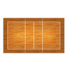 An of an aerial view of a hardwood volleyball vector
