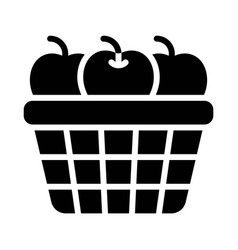 Apple basket icon thanksgiving related vector