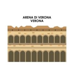 Arena di verona icon Italy culture design vector image