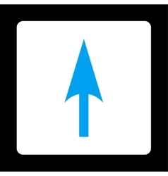 Arrow Axis Y flat blue and white colors rounded vector image