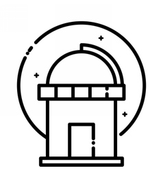 Astronomical Observatory under the stars vector