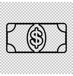 Bank Note dollar sign vector image