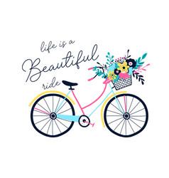 Bicycle and slogan vector