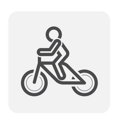 bike icon black vector image