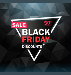 Black friday sale design conceptual layout vector