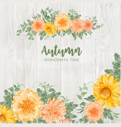 blossom autumn flowers vector image