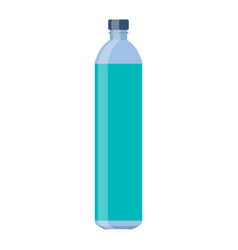 bottle glass water flat design vector image