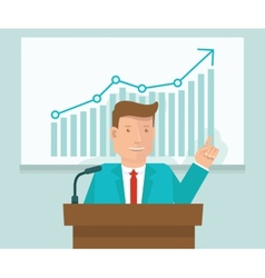 business conference concept in flat style vector image